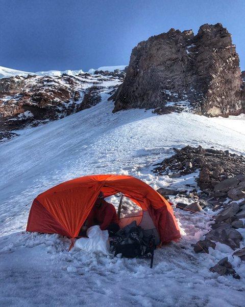 Camp at Thumb rock