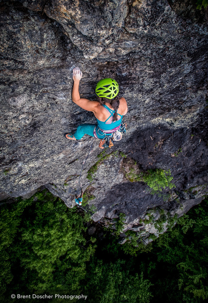 Brittni Gorman on the final moves of White Toad. © Brent Doscher Photography