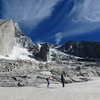 The Brujo circle. The glacier is changing each year