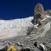 Second base camp at Torre universidad, 3h walk up the glacier