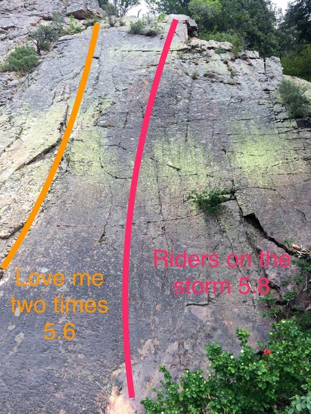 view of the slab and two routes.