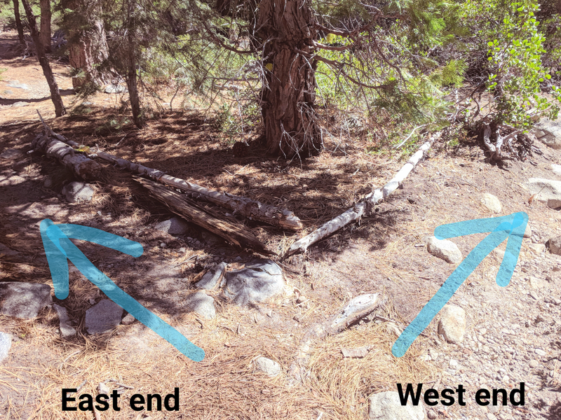 2nd fork in the trail:  Climbs on the west end, or continue to the east end