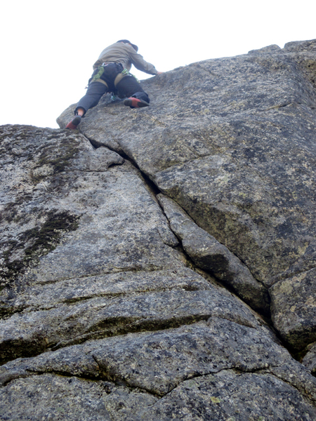 Green Goblin 5.8 on 1st ascent