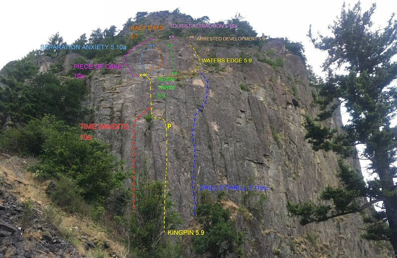 Beacon West Face, many of these are mixed routes so don't forget your rack. As of 28.10.2018
