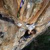 The route gets steep for a minute!<br> <br> Climber: David Price.<br> <br> @mackallphoto<br> <br> www.mackallphoto.com.
