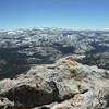 View from summit Tuolumne Peak
