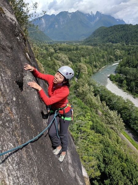 Angela Wang moving to the anchor, end of p3 on Walking Legend (Lower Lump Area)