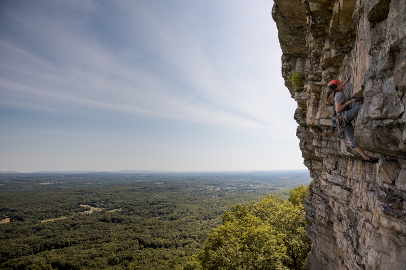 The second pitch of The Spring - 5.10b