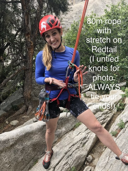 Redtail. 80m BARELY works with stretch. Tie your ends!
