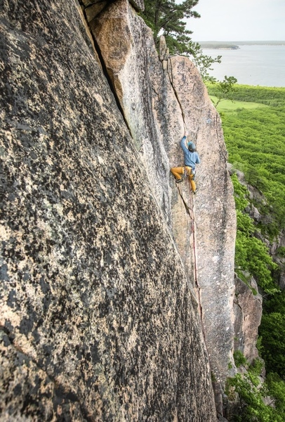 At the crux of this stelllar route!