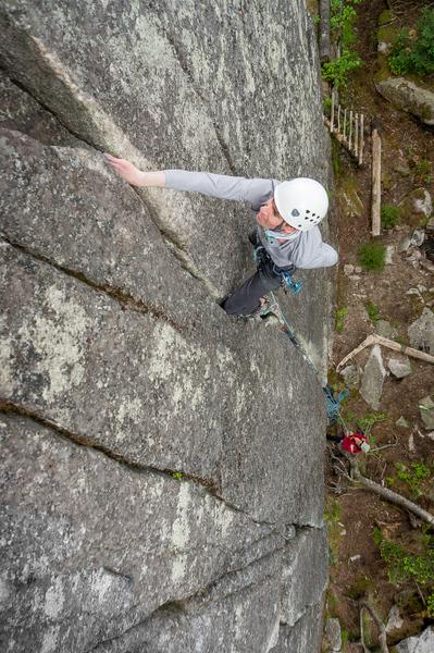 Gavin climbing the classic 1492.