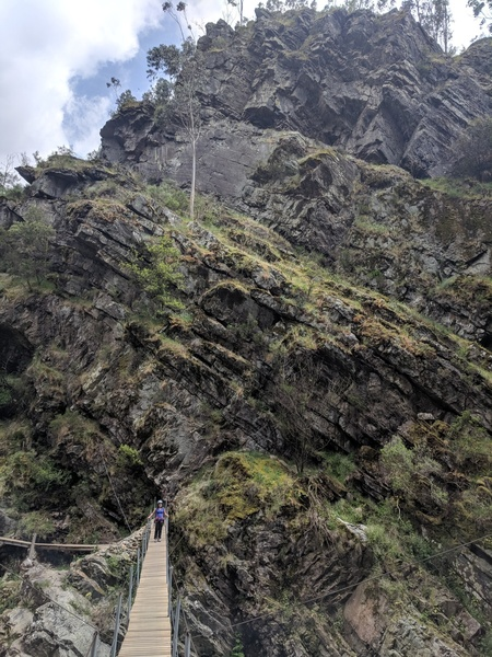 This is a view of the near side, with climbing throughout the upper part.
