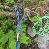 "This rappel anchor has been added just below the fallen birch for the second to last rappel - June 2018 be careful of loose rock in the ""woods"""