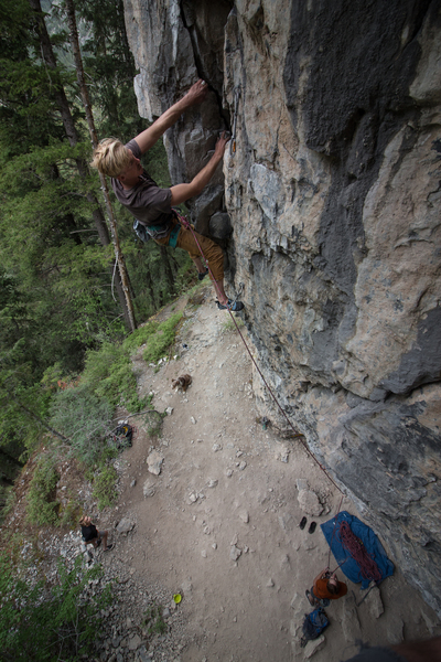 Dillon getting deep into the sharp crack, like a sharp cheese