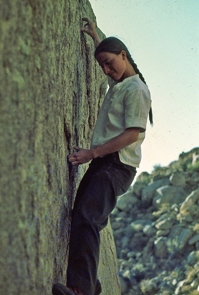 Kathy Kocon on Roybals Wall early70's