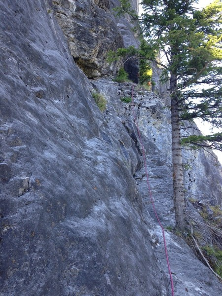 Pitch 3, moving the belay