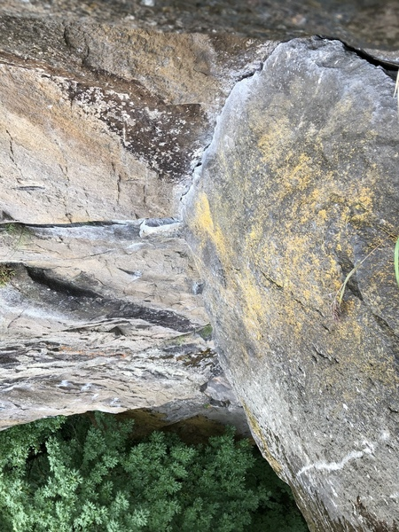 Top of second pitch, fingers section