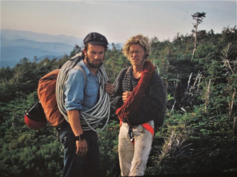 Paul Ross and Mike Peloquin after the first ascent of Vertigo