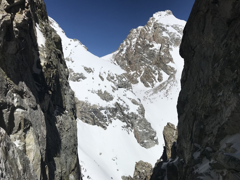 Middle and Grand from the couloir.