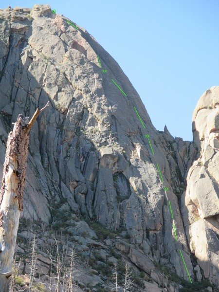 North Buttress of Acid Rock.