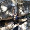 Climbing Fucktard boulder