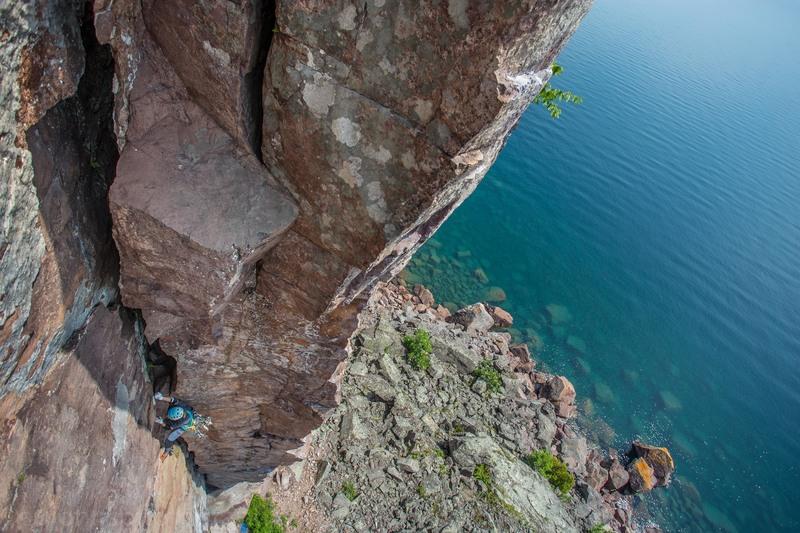Climber Kristina Suorsa Onsighting!<br> Photo by Anthony Johnson (agjohnsphotography)