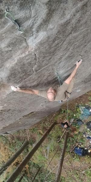 Derek making the reach.