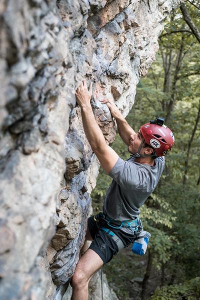Top half of the climb