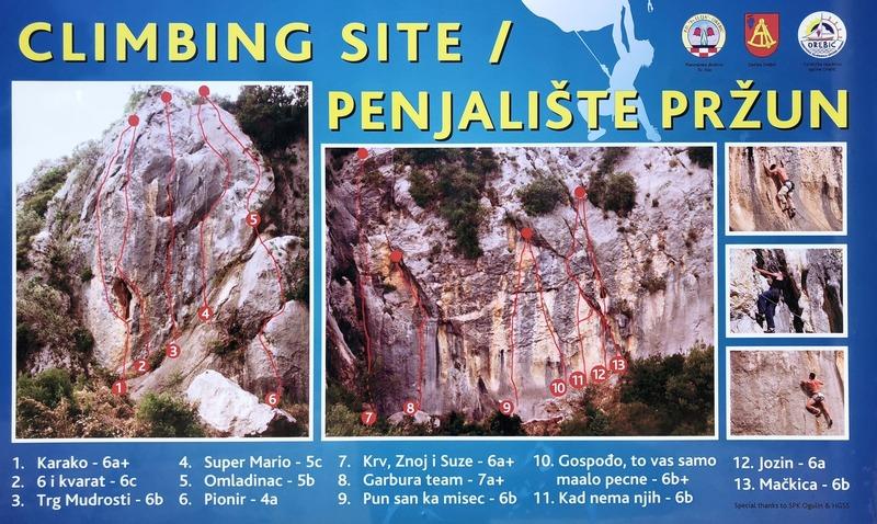 Przun climbing sign