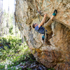 Trevor testing out the double heel-hook crux. Potent.