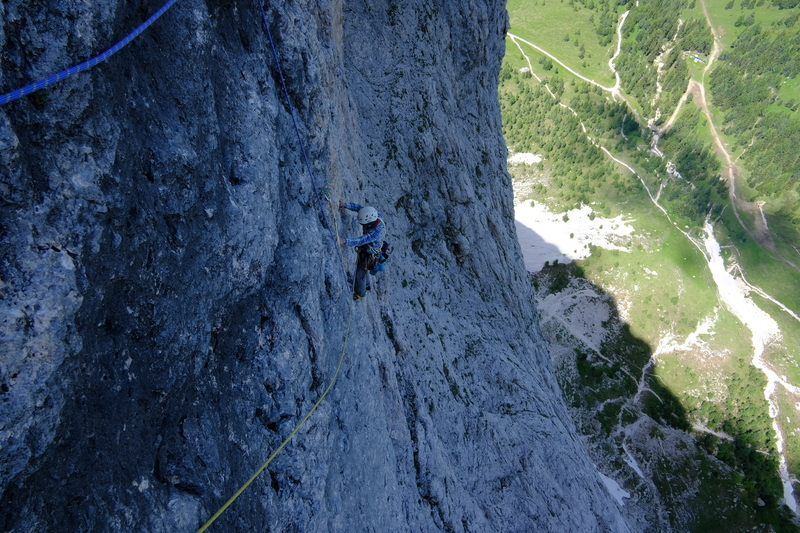On the upper pitches, perfect rock.
