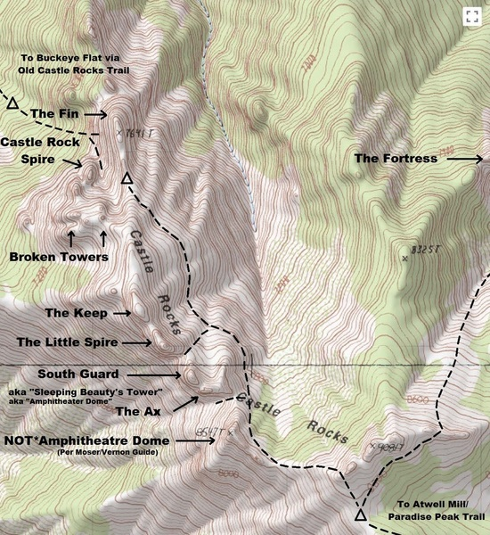 Topographic Map of the CRS Area