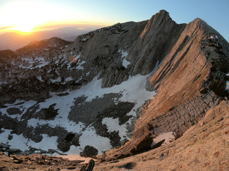 Lone Peak from the top of the Lowe Route during sunset!