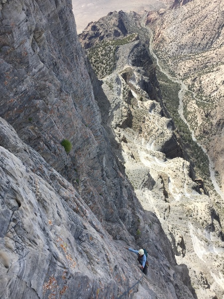 Bertram K coming up pitch 8 or 9. Spectacular position.