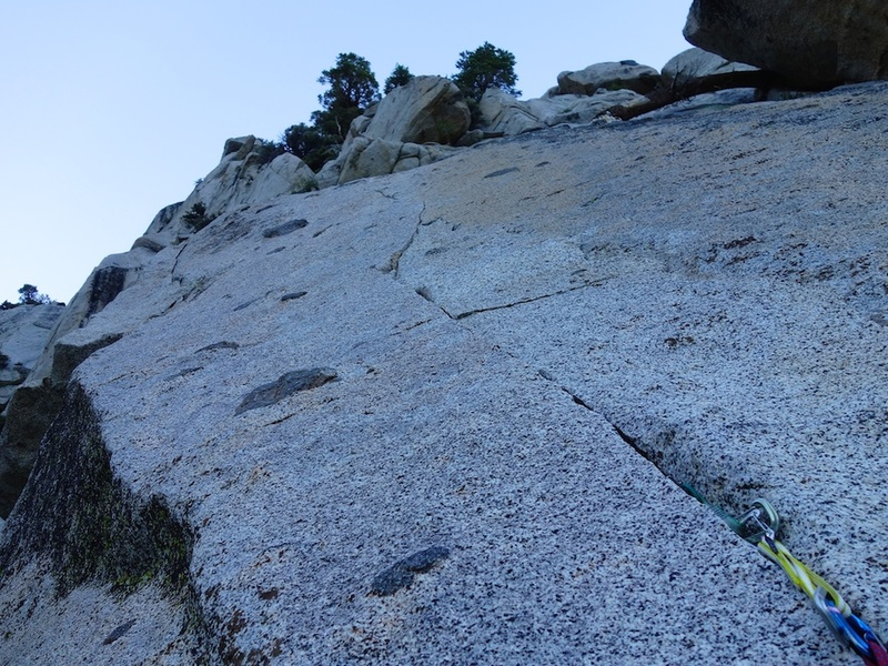 The final part of Pitch 2 (or Pitch 3) to the top.