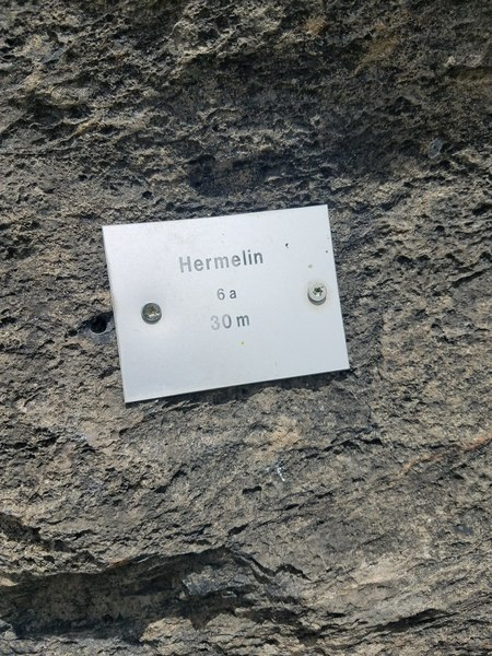 name plate of hermelin