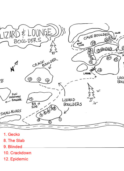 Lizard and Lounge map