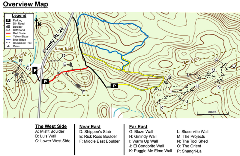map of the forest
