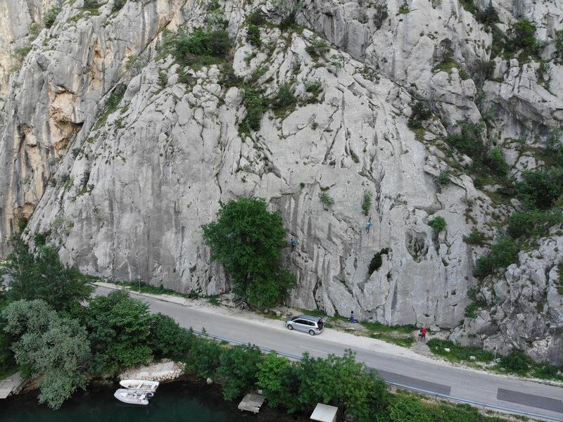 Drone shot of the whole Babina Bara crag
