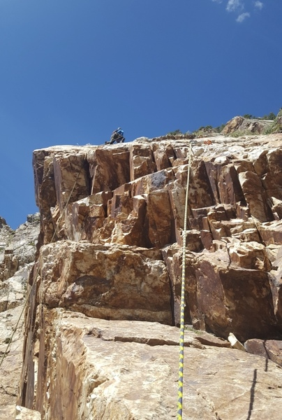Near the top of pitch one