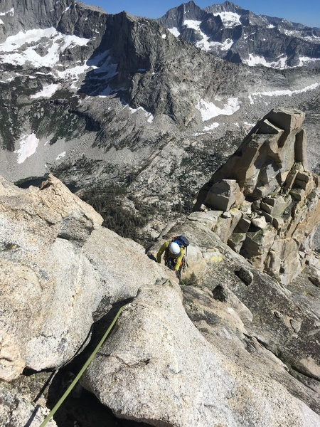 Coming up the ridge around P8.
