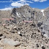 Finding the decent gully. Annotated photo.