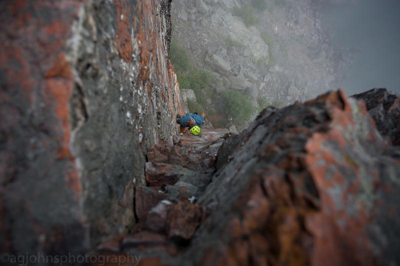 Climber Joe Lee<br> Photo by Anthony Johnson (Agjohnsphotography)