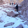 Central Gorge descent trail - Winter 2016