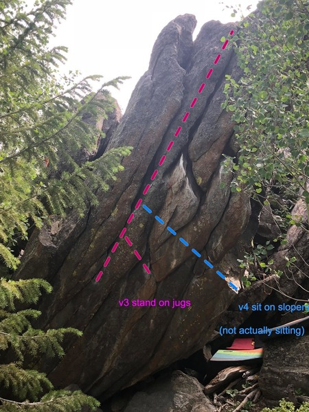 Slice Bread Boulder. To the right, you can see pads tucked under Burly