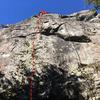 Route of Green Mile (5.10b), Chezem Cliffs