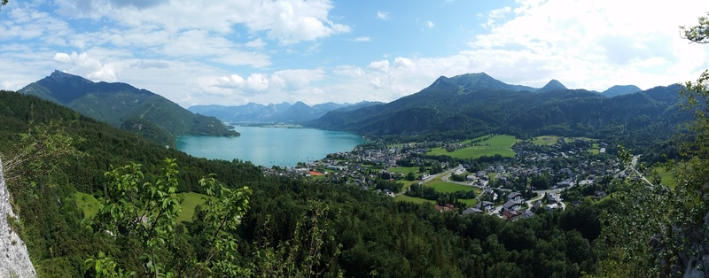 View of St. Gilgen and the Wolfgangsee from the top of P3