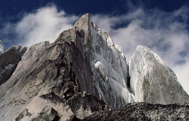 A rimed up view of the route after a four day storm. July 1979