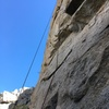 the upper part of this route is actually quite steep
