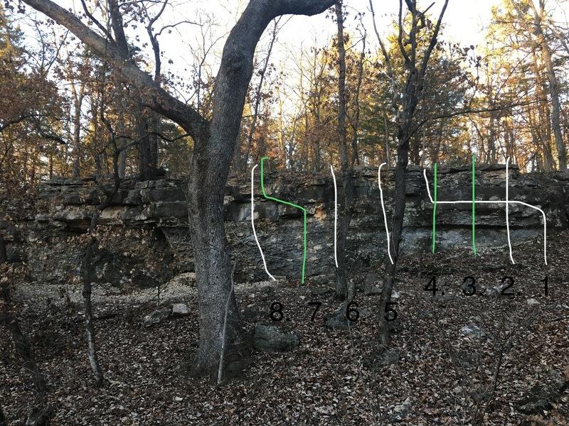 East refuge wall